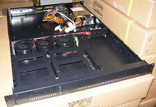 BRAND NEW BLACK 1U RACKMOUNT SERVER CASE WITH TOP QUALITY 500w POWER SUPPLY
