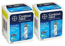 Contour next test strips 100  2 Boxes of 50 EXP 2018-7-20