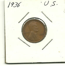 1936 LINCOLN WHEAT PENNY. NICE SHAPE. NO RESERVE AUCTION