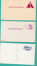 Scott# UX44, UX48, UX50  - FIPEX Liberty, Lincoln, USCustoms Postal Cards
