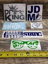 x6 JDM DECALS SET CAR AUTO WINDOW BUMPER STICKERS KIT TOYOTA SUBARU ACURA HONDA