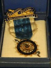 DAR Daughters of The American Revolution J.E. Caldwell Pendant Ribbon Pin 14k