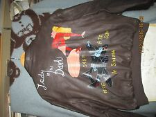 WWII  PAINTED A-2 LADY IN THE DARK P-61 BLACK WIDOW  SIZE 52R  FLIGHT JACKET