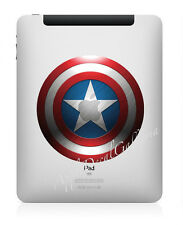 Captain America Apple iPad 1 2 3 4 Air Decal Sticker Skin Decals Cover SD