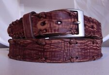 Brighton Brown HENLEY KNOTTED Leather Belt  Size 52 NWT  M80115