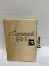 Claire's Fashion Diamond Girl Kids Teen Blank Diary Journal Book with Keys GOLD