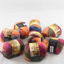 SALE 8Skeins x 50gr NEW Chunky Colorful Hand Knitting Wool Yarn 827 Blue Orange