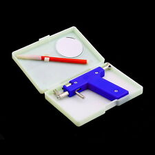 Pro Ear Nose Navel Body Piercing Gun Studs Tool Kit Set Steel Blue
