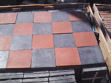 6x6 Red and black Quarry/floor tiles.      Www.acereclamation.com