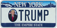 President Donald Trump New York Empire State License plate