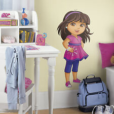 New Giant GROWN UP DORA WALL DECALS Girls Pink Bedroom Stickers Kids Room Decor