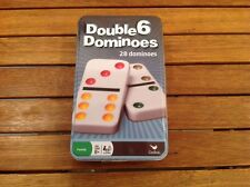 DOUBLE 6 DOMINOES 28 DOMINOES SET NEW CLASSIC GAME COLORED DOTS LOT OF 3 DOMINOE