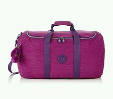 kipling  travel duffle gym bag Azura purple dahlia new 55cm 56litres