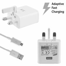For Samsung Galaxy S6 S7 Wall Main Quick Adaptive Fast Charger Plug + Cable Lead