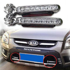 2X White 8 LED Wireless Wind Power Waterproof DRL Driving Fog Light For Car Auto