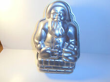 Aluminum 3D Santa Claus in Chimney Wilton?? Two Sides