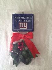 RARE NY NEW YORK GIANTS FAN MISTLETOE HOLIDAY CHRISTMAS TREE ORNAMENT GIFT HTF