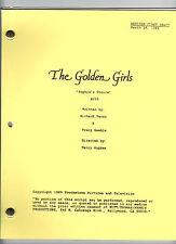 """THE GOLDEN GIRLS script """"Sophia's Choice"""""""