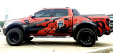 BLACK COLOR STICKER DECAL COVER CAR VINYL 4 DOORS FORD RANGER T6 12 13 14