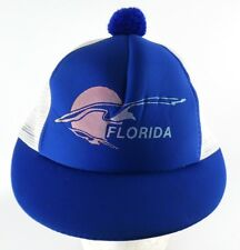 Florida Womens Snapback Adjustable Mesh Cap Hat Pom Pom Short Bill Ladies