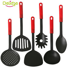 Non-Stick 6 Piece Black Nylon Kitchen Tool Set Cooking Tools Utensils Spoon