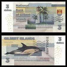 GILBERT ISLANDS / KIRIBATI - Billet de 3 DOLLARS - DAUPHIN - 2015 - NEUF