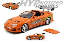 JADA 1:24 FAST AND FURIOUS BRIANS TOYOTA SUPRA DIE-CAST ORANGE N/B