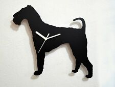 Airedale Terrier Dog Silhouette - Wall Clock