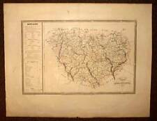 Carte ancienne originale LA HAUTE LOIRE tireée du NOUVEL ATLAS NATIONAL 1835