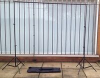 New High Quality Studio Background Support Kit 2.6m*3m W/Bag Fast Delivery