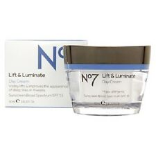 Boots No7 Lift & Luminate Day Cream Moisturizer SPF15 - New In Box & Full Size