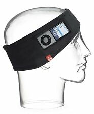NEW i360 Sound Music Audio Mp3 Workout Band Headband Running Sweat Black Msrp$30