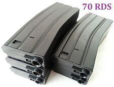 E&C 5 Pcs 70 Rounds 6mm Pellets Mag For Airsoft M Series Black (EC-MA002A)