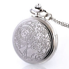 DR WHO DOCTOR DOTTOR COLLANA NECKLACE OROLOGIO POCKET WATCH GALLIFREYAN TARDIS 2