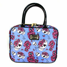 BETSEY JOHNSON Authentic Undercover Skulls Roses Weekender Toiletry Cosmetic Bag