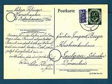 GERMANY - GERMANIA REP. FED. - Cart. Post. - 1953 -Destinazione Saulgau
