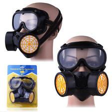 Masque chimique avec double filtration par cartouche peinture poussière eye des lunettes de sécurité