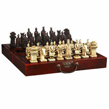 Chinese 32 pieces chess set box Xian Terracota Warrior'   **Free shipping**