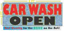 CAR WASH OPEN Banner Sign NEW Larger Size for Auto Hand Detail Machine Wax