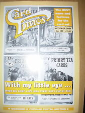CARD TIMES MAGAZINE FORMERLY CIGARETTE CARD MONTHLY No 137 OCTOBER 2001