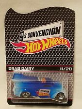 2016 Mexico Hot Wheels 9A Convention Blue & White Drag Dairy #11/20!