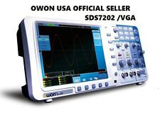 OWON SDS7202 200MHz digital  1GS/s DE Handbuch Oscilloscope + VGA + BATTERY +BAG