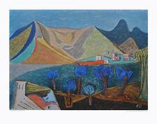 Werner Gilles Kunstdruck Poster hochwertiger Lichtdruck Landschaft 50x64,8cm
