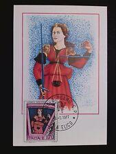 ITALIA MK 1977 KUNST FRESKO KATHEDRALE MAXIMUMKARTE MAXIMUM CARD MC CM c8743