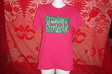 Strawberry Shortcake Sparkling Pink T-Shirt Womens Small