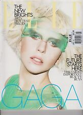 ELLE FASHION MAGAZINE UK MONTHLY JANUARY 2012, LADY GAGA COVER.