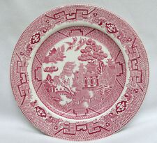"""1929-1942  Allerton's England Pink """"Willow"""" Transfer Bread & Butter Plate 6 7/8"""""""