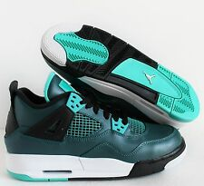 NIKE AIR JORDAN 4 RETRO 30TH BG TEAL-WHITE SZ 6Y-WOMENS SZ 7.5 [705330-330]