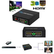 HDMI 1 in 2 out 1080p HDCP Stripper 1x2 Splitter Power Signal Amplifier PC HDTV