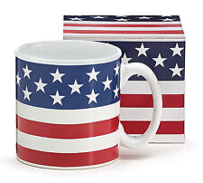 Ceramic Coffee Mug Stars and Stripes USA Patriotic Red White and Blue 13 Oz